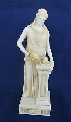 Hestia sculpture aged statue Vesta ancient Greek Goddess of the hearth
