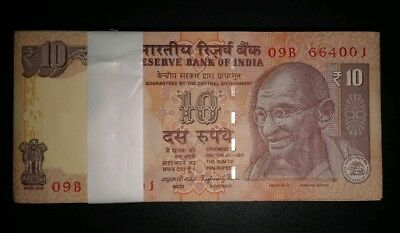 Rs.10/- Error Note Pair Uniface ~ Full Serial Packet ~ 2 Uniface errors .