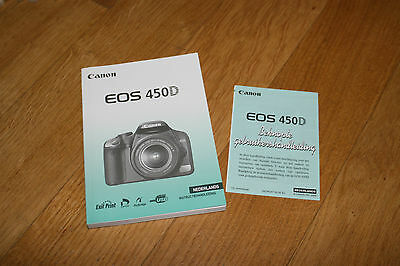 Canon EOS 450D Nada no especificado Holländisch Instructie Handleiding