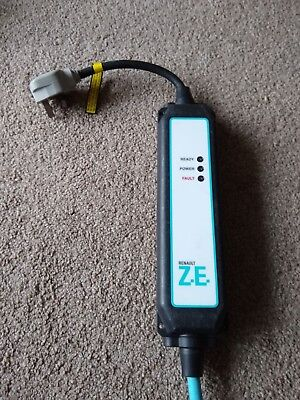 Renault Zoe uk plug Granny Occasional Charging Cable EV home Charger FREE POST
