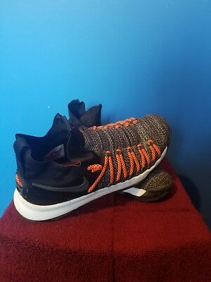 65cd89387d5 Nike Zoom KD 9 Elite Black White Orange Kevin Durant 878637 010 Basketball  Sz 9
