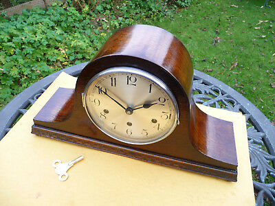Mantle clock  German Haller. 1920s 1930s?  Westminster quarter chiming  with key