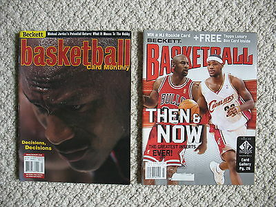 Lot of 2 Vintage Magazine Michael Jordan Beckett Basketball Monthly 2001 & 2005