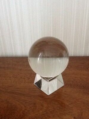 Clear Glass Crystal Ball And Stand