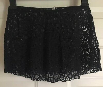 Eleve Dancewear Black Lace Skirt XS