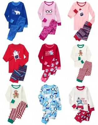 NWT Gymboree Holiday Pajamas 2pc Cotton Top and Pants Set Pajama