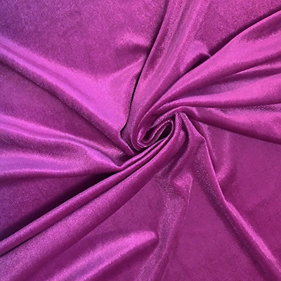 Orchid Fabric, Stretch Velvet Fabric by the Yard, Apparel Costumes Craft Fabric