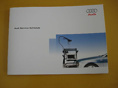 New Audi Service Book New All Models Petrol And Diesel A1 A3 A4 A5 A6 A8 S2 S3
