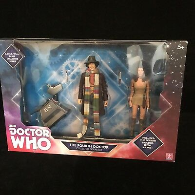 Doctor Who 4th Dr Collector Action Figure Set Tom Baker, K-9 & Leela Toys