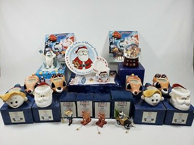 Rudolph And The Island Of Misfit Toys HUGE LOT ENESCO Ornaments Waterball Mugs