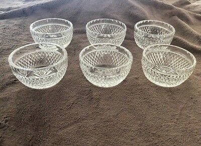 Vintage Set of 6 Waterford Crystal - Alana Pattern - Small Bowls