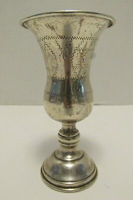 Antique ESCO STERLING SILVER KIDDUSH CUP 53 Grams Judaica Rolled Rim Chased