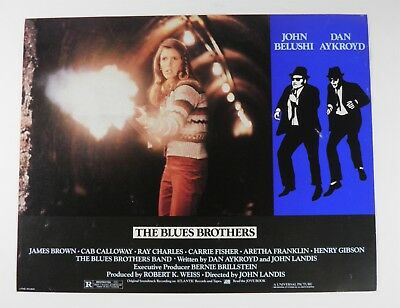 The Blues Brothers Orig 11X14 Lobby Card Carrie Fisher John Belushi (1980)