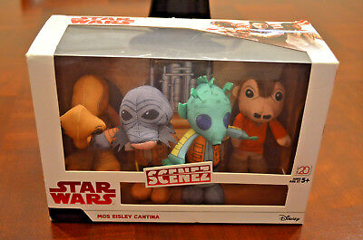 Disney Star Wars Scenez Mos Eisley Cantina 4 Figures New In Box