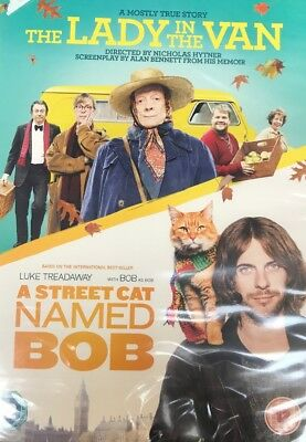 The Lady in the Van/A Street Cat Named Bob [DVD] New Sealed