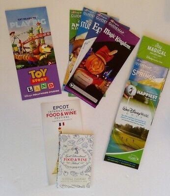 New 2018 4 Walt Disney World Theme Park Guide Maps, Food & Wine Fest. Passport
