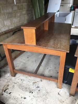Two Beautiful Vintage Oak Library Tables