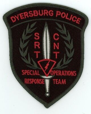 Dyersburg Police Tennessee Tn Special Operations Response Team Sort Patch