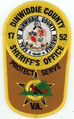Dinwiddie County Sheriff Virginia Va Patch Colorful Police