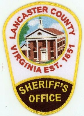 Lancaster County Sheriff Virginia Va Patch Colorful Police