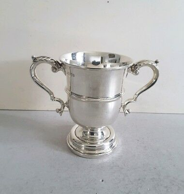 Heavy,  Georgian Style Vint. Solid Silver Cup.  332Gms.  Ht.14.2Cms. Chest. 1924
