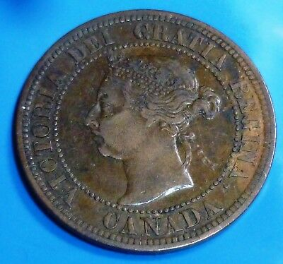 1891 Canada Cent KM# 7 SD SL (small date small leaves)