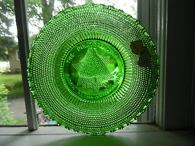Green Clevenger NJ Glass Plate Orig Label 1970 Maine  Pine Tree State