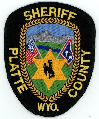 Platte County Sheriff Wyoming Wy Patch Police Colorful