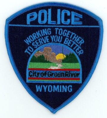 Green River Police Wyoming Wy Patch Sheriff Colorful