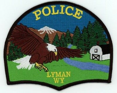 Lyman Police Wyoming Wy Patch Sheriff Gorgeous Colorful Eagle