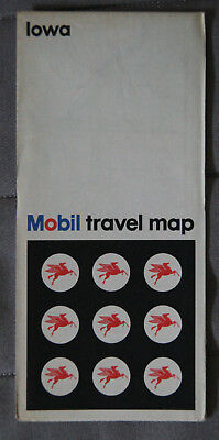MOBIL CARTE ROUTIERE ROAD MAP 1969 Edition - IOWA