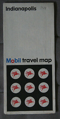 MOBIL CARTE ROUTIERE ROAD MAP 1973 Edition - INDIANAPOLIS