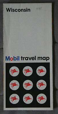 MOBIL CARTE ROUTIERE ROAD MAP 1971 Edition - WISCONSIN