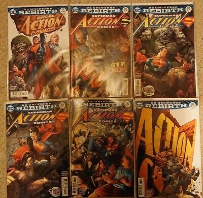 Action Comics #957-962, DC universe Rebirth, first prints, first arc (2016)