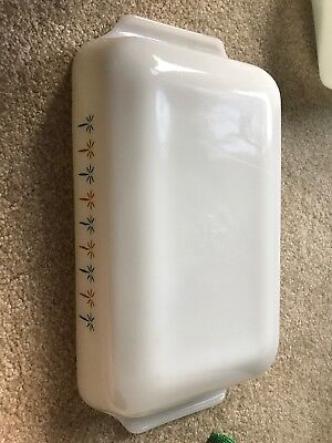 Vintage Anchor Hocking Fire King Milk Glass 432 Candle Glow Casserole 1.5 qt