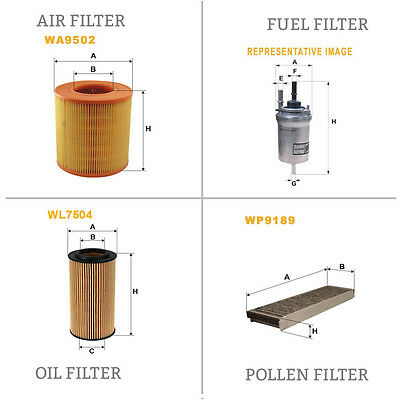 WIX Air le Pollen Huile & Carburant Kit Filtre WA9502,WP9189,WL7504,WF8325