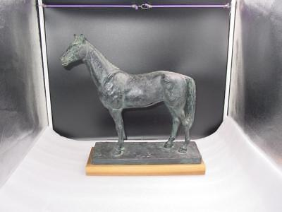 Austin Productions Horse Statue on Wood Base Signed Marshall EXCELLENT