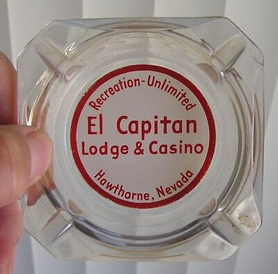 Advertising Ashtray, El Capitan  Lodge & Casino, Hawthorne, Nevada