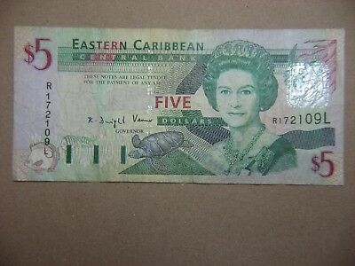 Eastern Caribbean Banknote  5 Dollars  St. Lucia