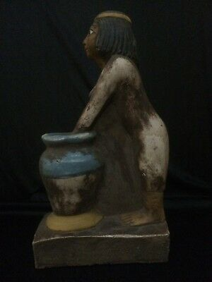 ANCIENT EGYPT ANTIQUITIES EGYPTIAN Woman Brewing Beer Statue Sculpture 2350 BC