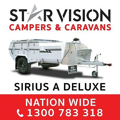 STAR VISION SIRIUS A DELUXE Hard Floor Camper Trailer Off Road Caravan Rear Fold