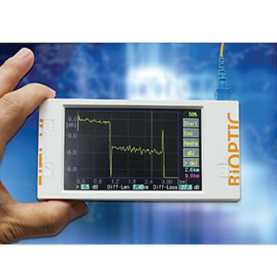 Bioptic LCD Touch Panel Fiber Fault Finder OTDR 3F-10 Measurement Lenght 10Km