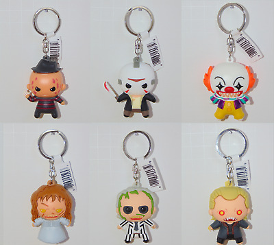 Horror FIGURAL KEYRINGS Series 1 & 2 Collectible 3D Keychains Freddy Jason
