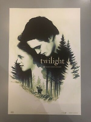 """Twilight 10th Year Anniversary Fathom Events Exclusive Poster, 13.25 X 19.5"""" AMC"""