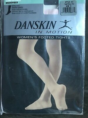 561d9e3ea15ec DANSKIN FOOTED TIGHTS Style 212 Theatrical Pink Size D - $5.00 ...