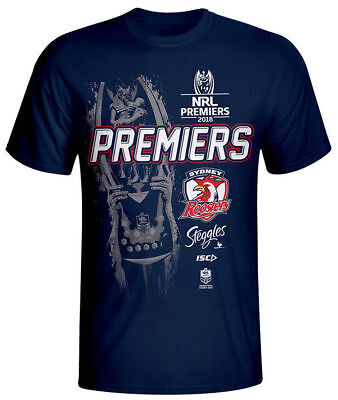 NRL 2018 Premiers Tee Shirt - Sydney Roosters - Adult Youth