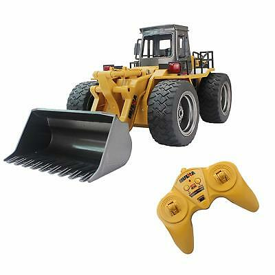 Fistone RC Truck Alloy Shovel Loader Tractor 2.4G Radio Control 4 Wheel Bulldoze