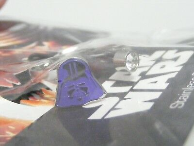 Star Wars Stainless Steel Purple Darth Vader Ring NEW Size 7