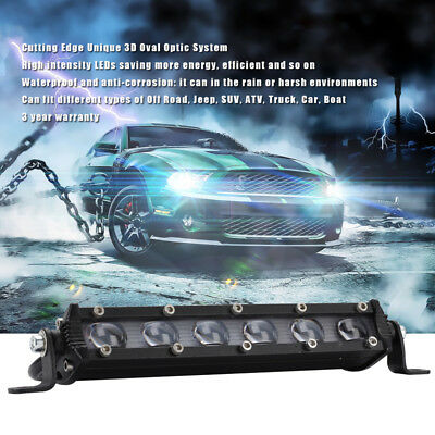 "1X 60W 8"" LED Work Light Bar Spot Flood Driving Fog Lamp Offroad SUV Truck 6000K"