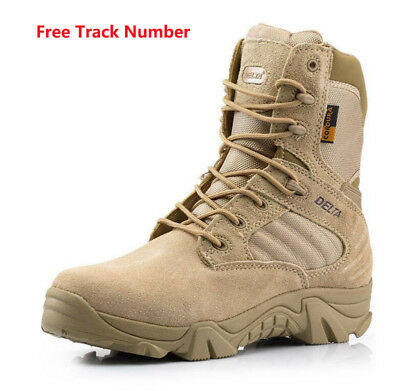 85e86667283 Outdoor Military Tactical Ankle Boots Cordura Desert Combat Army Hiking  Shoes